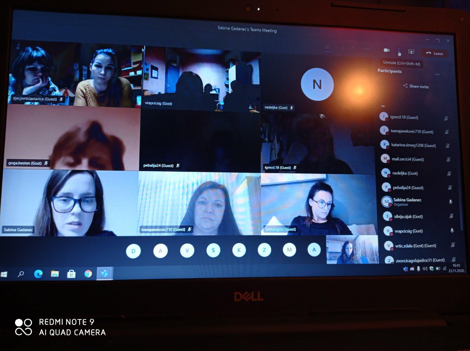 Prva online sjednica Odgojiteljskog vijeća